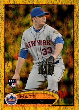 Matt Harvey Topps Gold Sparkle Rookie Card