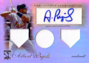 Albert Pujols Authentic Autographed Jersey Card