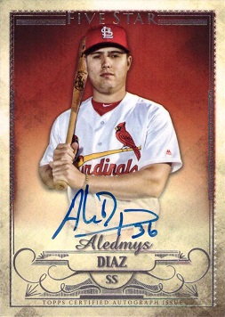 2016 Topps Five Star Aledmys Diaz Certified Autograph Baseball Rookie Card