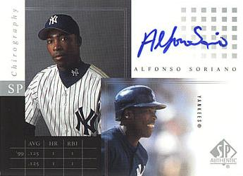 Alfonso Soriano Autographed Card