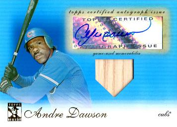 Andre Dawson Authentic Autographed Bat Card