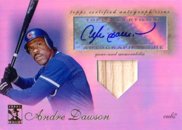 Andre Dawson Authentic Autograph Card