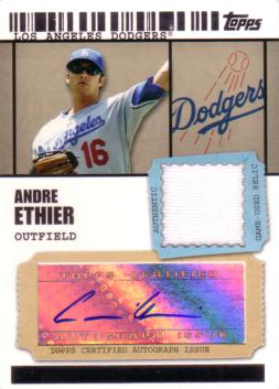 Andre Ethier Authentic Autograph Jersey Card