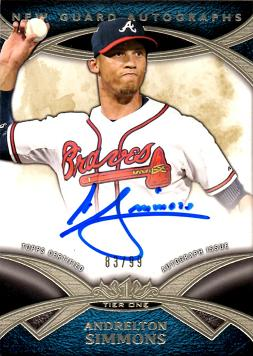 2014 Topps Tier One Andrelton Simmons Certified Autograph Baseball Card