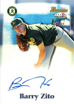 2000 Bowman Draft Picks Barry Zito Autograph Rookie Card