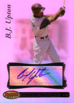 B.J. Upton Authentic Autograph Card