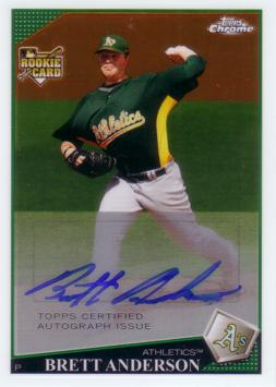 Brett Anderson Authentic Autograph Rookie Card