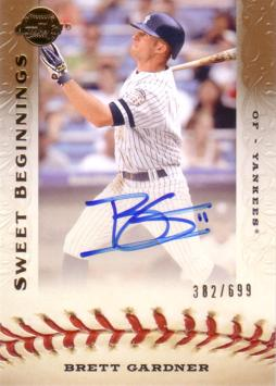 Brett Gardner Authentic Autograph Card
