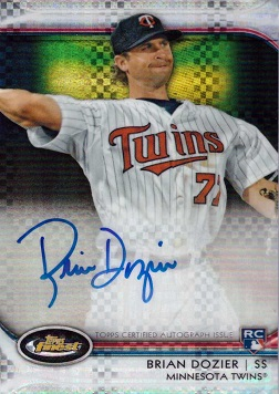2012 Topps Finest Xfractor Brian Dozier Certified Autograph Baseball Rookie Card