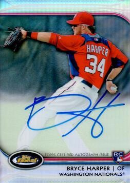 Bryce Harper Autograph Rookie Card