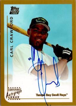 Carl Crawford Autograph Rookie Card