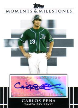 Carlos Pena Authenitc Autograph Card