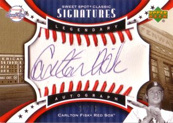 Carlton Fisk Authentic Autograph Card
