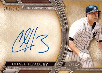Chase Headley Autograph Card