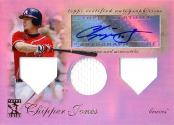 Chipper Jones Authentic Autograph Bat Card