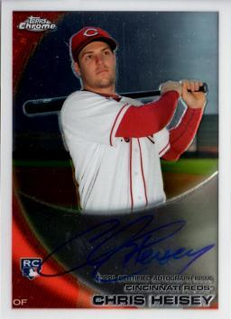 Chris Heisey Autograph Rookie Card