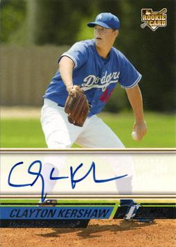 Clayton Kershaw Autograph Rookie Card