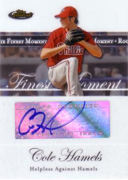 Cole Hamels Authentic Autograph Card