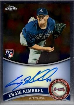 2011 Topps Chrome Craig Kimbrel Autograph Rookie Card