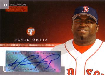 David Ortiz Authentic Autograph Card