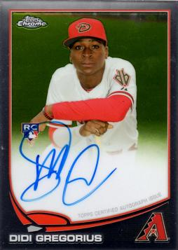 2013 Topps Chrome Didi Gregorius Autograph Rookie Card