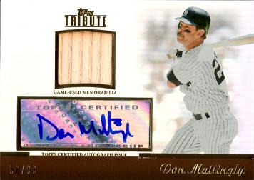 Don Mattingly Authentic Autograph Bat Baseball Card