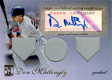 Don Mattingly Authentic Autograph Card