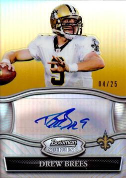 Drew Brees Certified Autograph Card