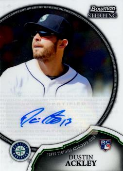 DustiN Ackley Certified Autograph Card