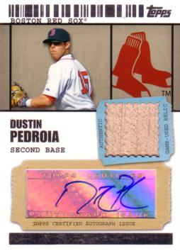 Dustin Pedroia Authentic Autograph Bat Card