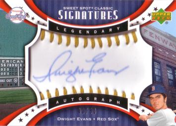 Dwight Evans Authentic Autograph Card