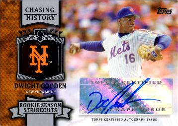 Dwight Gooden Certified Autograph Card