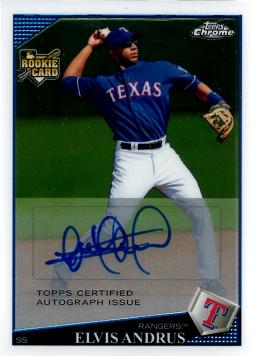 Elvis Andrus Authentic Autograph Rookie Card