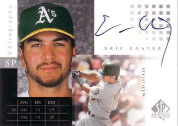 Eric Chavez Authentic Autograph Card