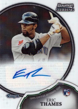 Eric Thames Certified Autograph Rookie Card