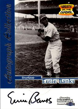Ernie Banks Certified Autograph Card