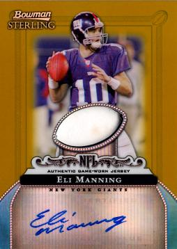 Eli Manning Autograph Game Worn Jersey Card