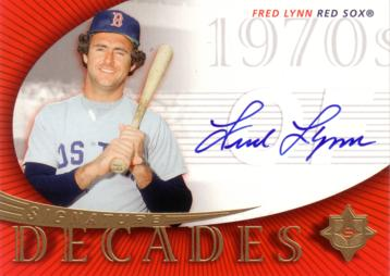 Fred Lynn Certified Autograph Card