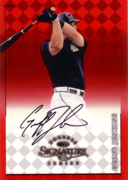 Geoff Jenkins Authentic Autograph Card