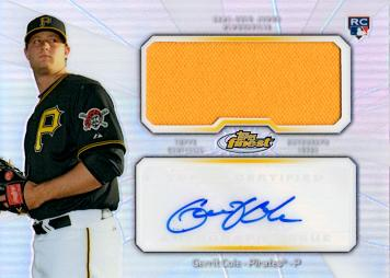 Gerrit Cole Autograph Game Worn Jersey Rookie Card
