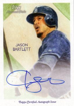 Jason Bartlett Certified Autograph Card