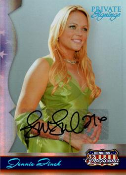 2007 Donruss Americana Jennie Finch Certified Autograph Card