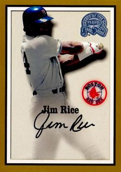 Jim Rice Authentic Autograph Card