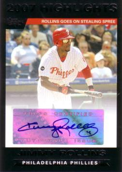 Jimmy Rollins Authentic Autograph Card