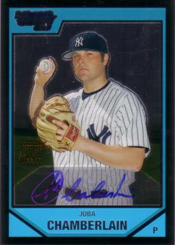 Joba Chamberlain Authentic Autograph Card