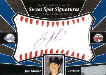 Joe Mauer Authentic Autograph Card