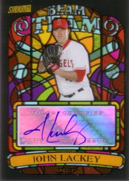 John Lackey Authentic Autograph Card