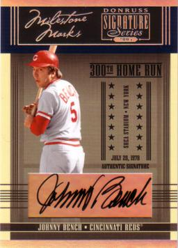 Johnny Bench Authentic Autograph Card
