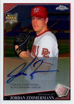 Jordan Zimmermann Certified Autograph Rookie Card