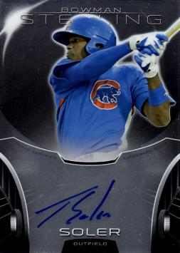 2013 Bowman Sterling Prospects Jorge Soler Certified Autograph Baseball Card